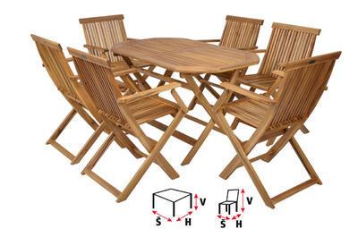 HECHT BASIC SET 6 - set zahradního nábytku - 1