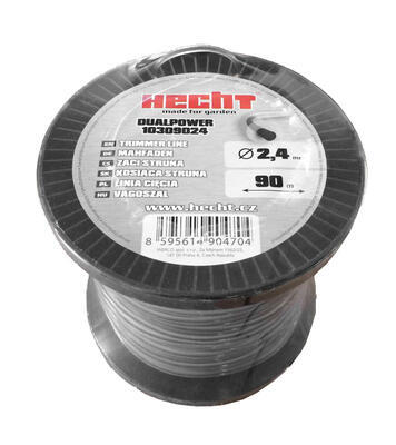 HECHT 10309024 - struna kulatá 2,4 mm x 90 m - 1