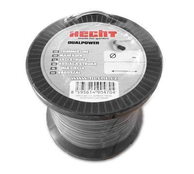 HECHT 10434524 - struna čtvercová 2,4 mm x 345 m - 1