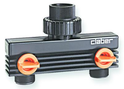 Claber 8589 - nástavec - 2 vývody se závitem - 2