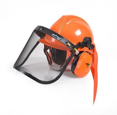 HECHT 900100 - ochranná helma se sluchátky a štíte - 2