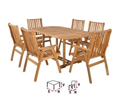 HECHT ROUNDED SET - set zahradního nábytku - 2